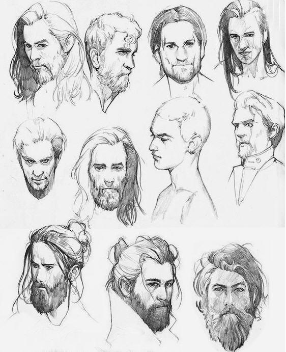 Disegno di viso uomo 1