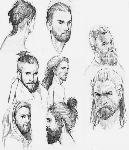 Disegno di viso uomo 2
