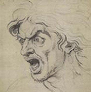 La rabbia - Le espressioni del viso