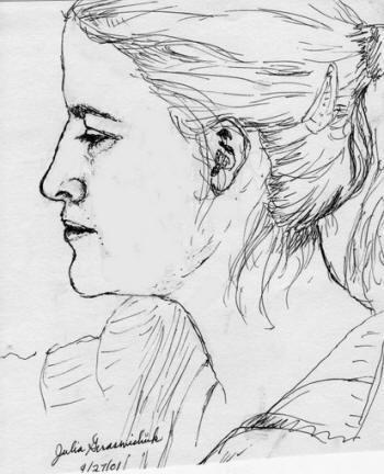 Come disegnare un viso di profilo