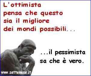 pessimista ottimista
