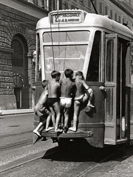 si giocava anche col tram
