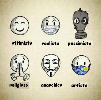 vari tipi di mascherine