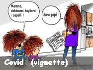 Vignette e meme su pandemia e covid