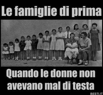 le famiglie di prima