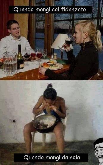 mangiare col fidanzato