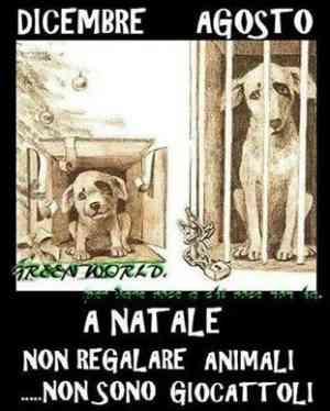 Vignetta non regalate animali