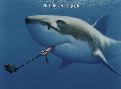 selfie con squalo