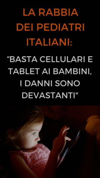 no cellulari tablet bambini