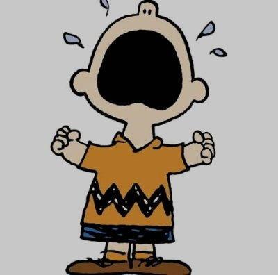 Charlie Brown Piange