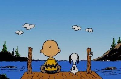 In riva al mare Charlie Brown e Snoopy