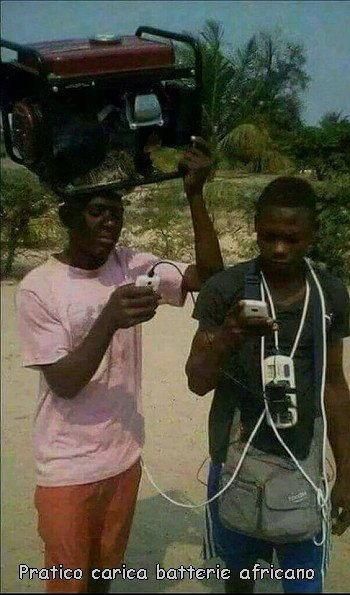 carica batterie africano