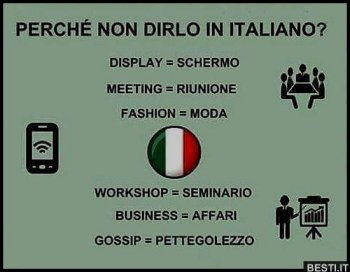 dirlo in italiano