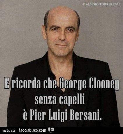 george clooney come bersani