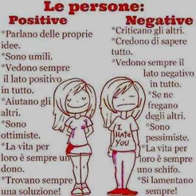 Vignetta persone positive negative