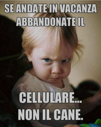 se andate in vacanza