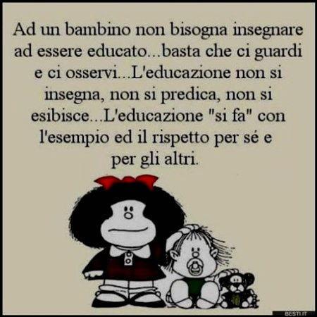 Vignetta mafalda insegnare educazione