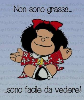 Vignetta mafalda Non sono grassa