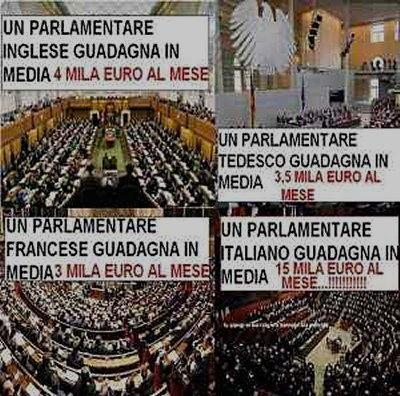 guadagni dei parlamentari