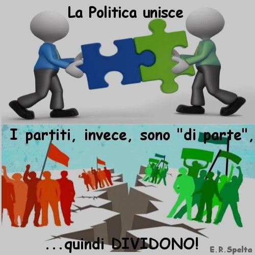 i partiti dividono quel che la politica unirebbe