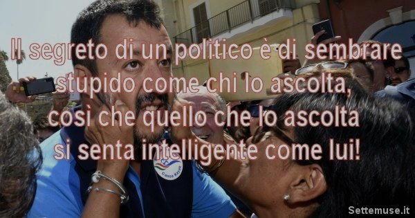 il segreto di un politico