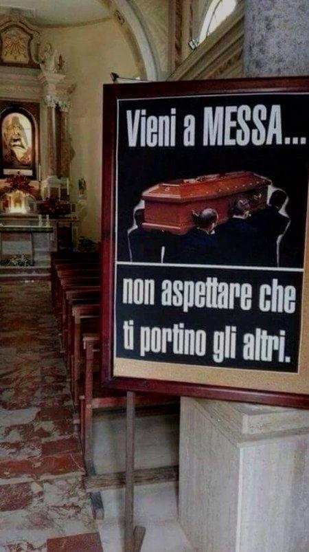 vieni a messa
