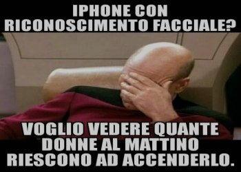 iphone riconoscimento facciale