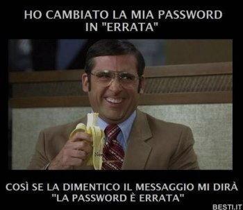 password errata