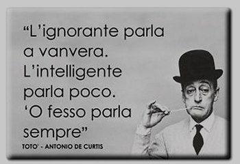 ignoranza parla a vanvera