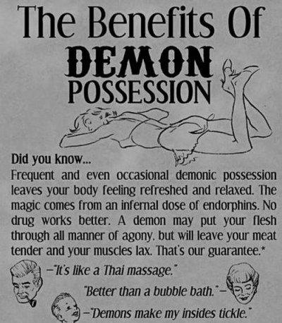 benefici del possesso demoniaco