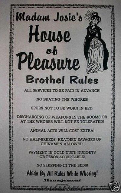 casa di piacere regolamento