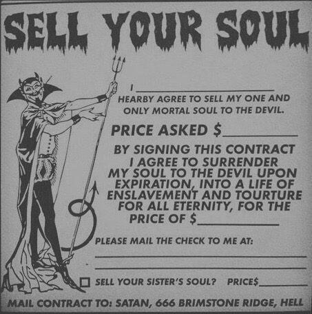 vendi la tua anima