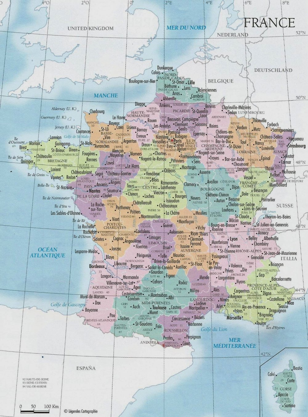 Cartina Belgio e Olanda