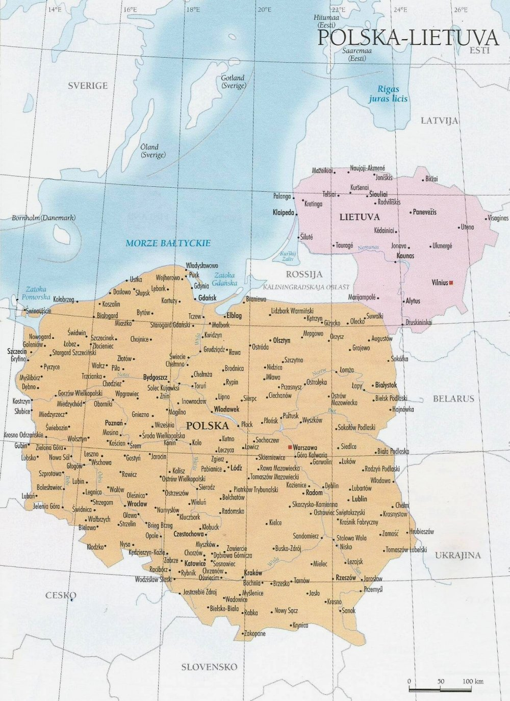 Cartina Polonia