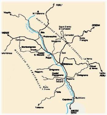 Mappa Casentino