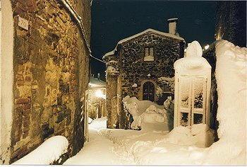 Castelnuovo Val di Cecina sotto la neve