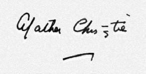 La firma di Agatha Christie