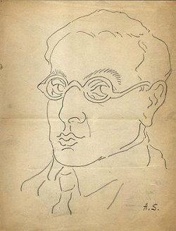 Ritratto disegno di Alberto Savinio