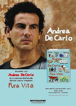 Andrea De Carlo copertina di Pura vita