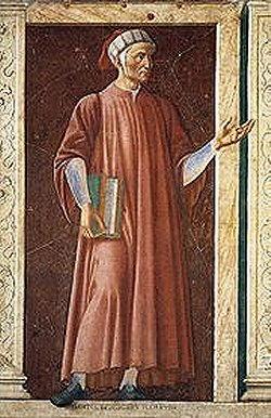 Un dipinto con Dante Alighieri