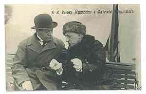 Gabriele D'Annunzio e Benito Mussolini