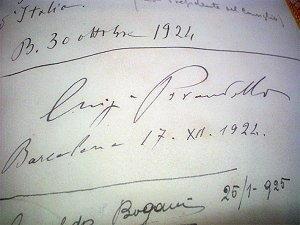 Scritto autografo di Luigi Pirandello