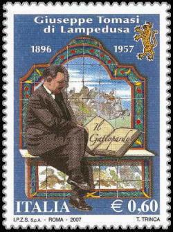 Francobollo dedicato a Tomasi di Lampedusa