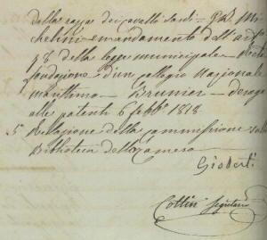 Biografia di Vincenzo Gioberti, manoscritto