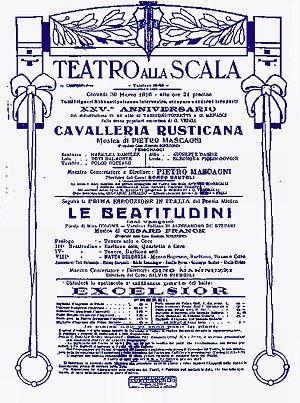 Cavalleria Rusticana di Pietro Mascagni al teatro a Scala di Milano