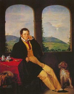 Biografia di Franz Schubert, altro ritratto col cane