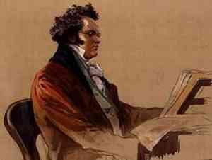 Franz Schubert al piano