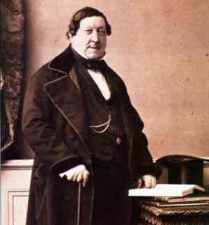 Gioacchino Rossini in posa