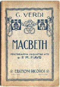 Libretto Opera Lirica Macbeth di G.Verdi