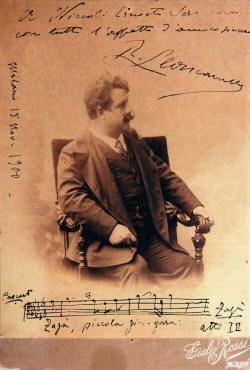 Ruggero Leoncavallo biografia e foto